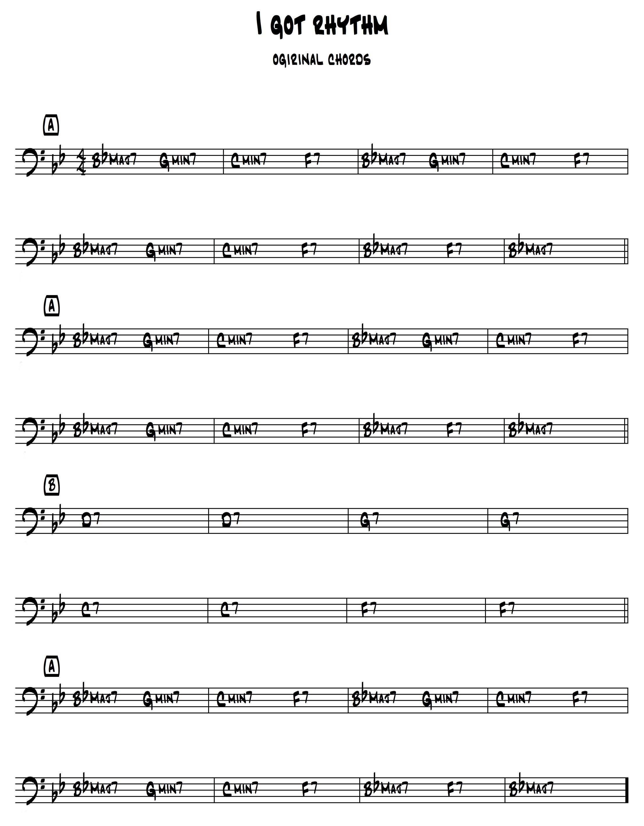 ANATOLE (rhythm changes) struttura armonica e analisi