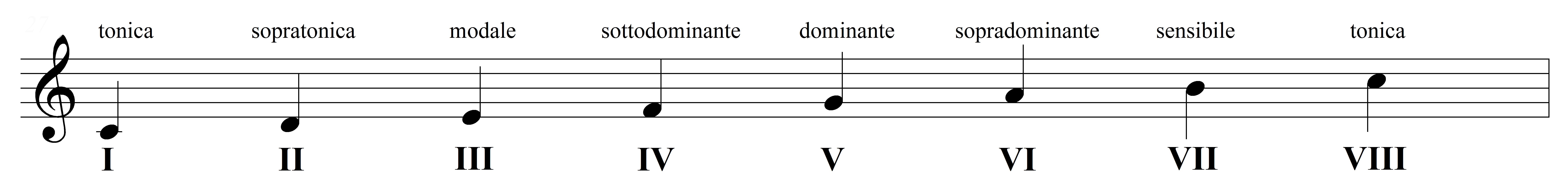 I GRADI DELLA SCALA – nomenclatura e caratteristiche armoniche